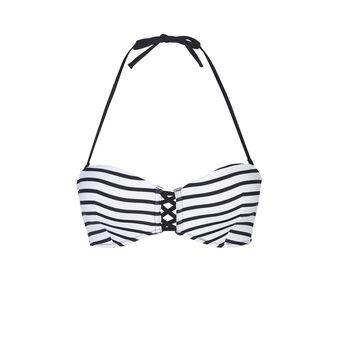 Parte de arriba de bikini blanca y negra marineriz white.