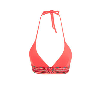 Haut de maillot de bain corail melibrodiz pink.