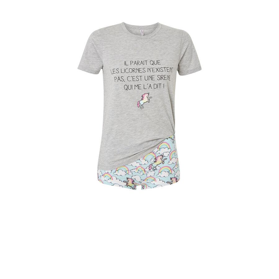 Ensemble de pyjama gris nexistiz;${refinementColor}
