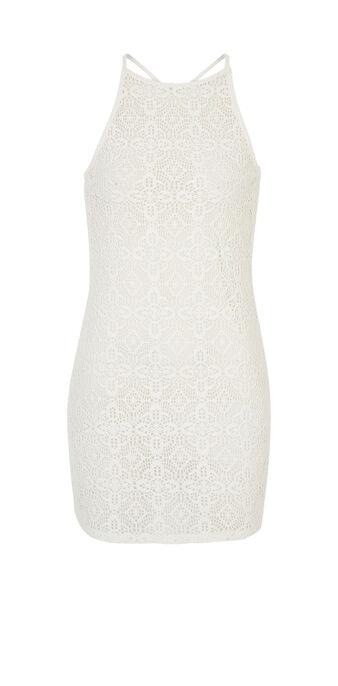 Allcrochiz beige dress white.