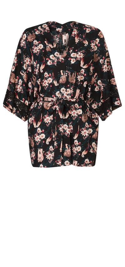 Florientiz black kimono;${refinementColor}