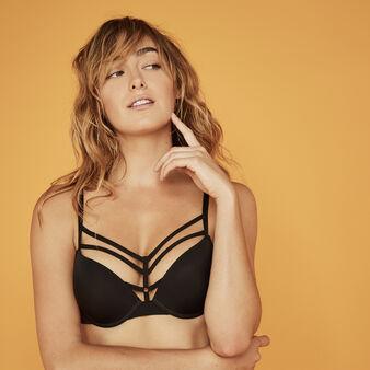 Ligatiz black push-up bra black.