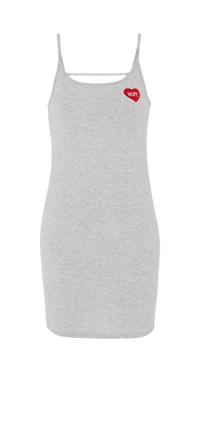Vestido gris perpendiz;${refinementColor}