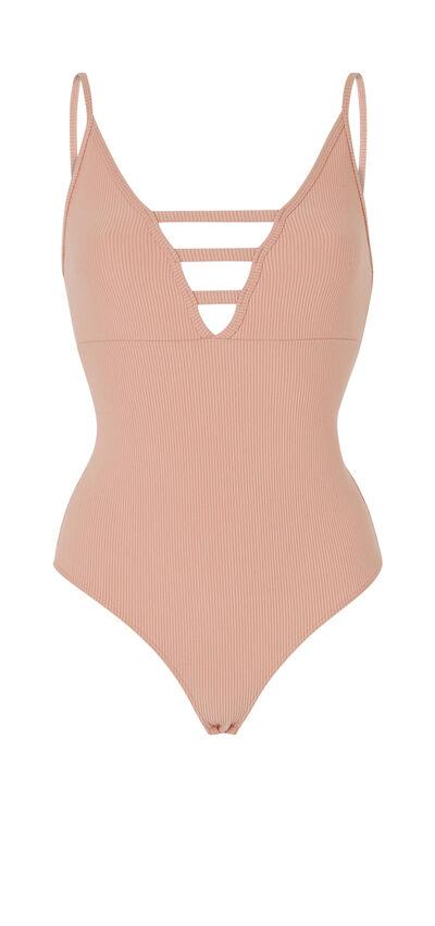 Pinupiz pale pink bodysuit;${refinementColor}