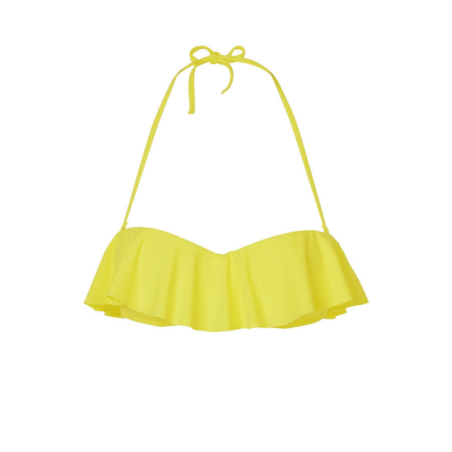 Citroniz yellow bikini top;${refinementColor}
