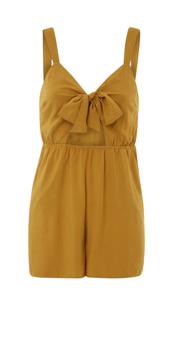Riliz mustard yellow playsuit yellow.