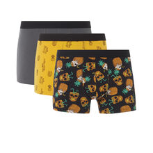 Set of three greeniz boxer shorts black.