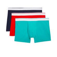 Set of three tartariz boxer shorts blue.