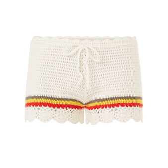 Raggaiz beige shorts white.
