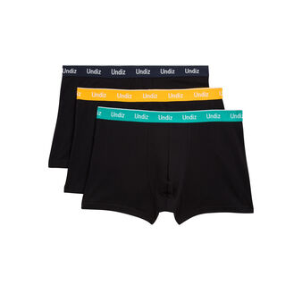 Set of three floutiz black boxer shorts black.