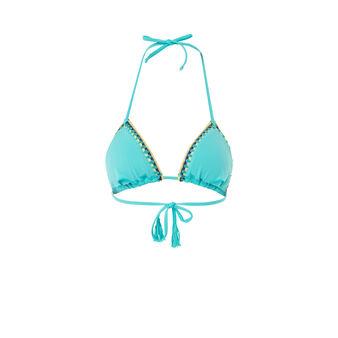 Parte de arriba de bikini azul turquesa picotiz green.