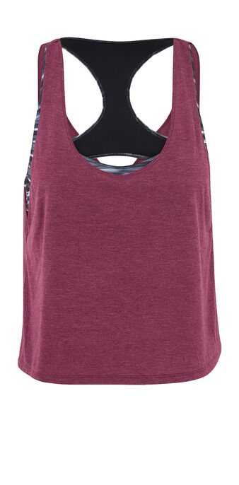 Asteriz pink marl sports top pink.