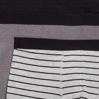 Set of three gradientiz boxer shorts black.