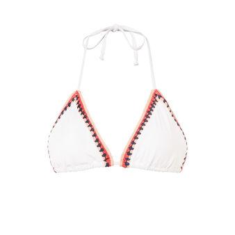 Parte de arriba de bikini beis picotiz white.