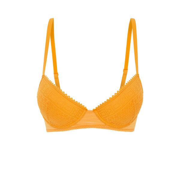 Sunniz yellow push-up bustier bra;${refinementColor}