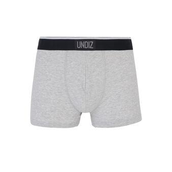 Letmoviz grey boxer shorts grey.
