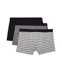 Lot de trois boxers gradientiz black.