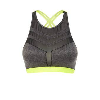 Alviniz black sports bra grey.