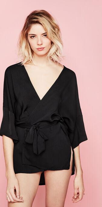 Kimono noir kabukiz black.