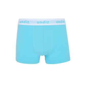 Barceloniz blue boxers blue.
