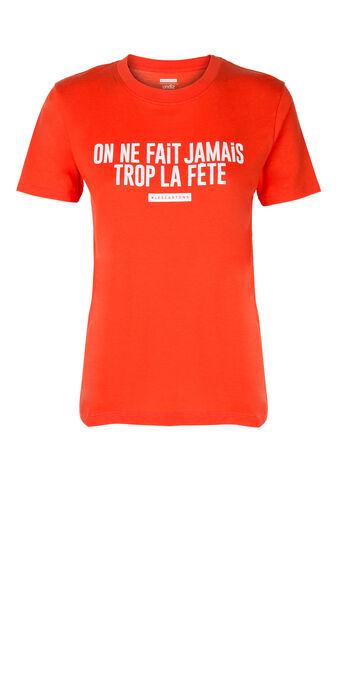 Top orange troisjiz red.