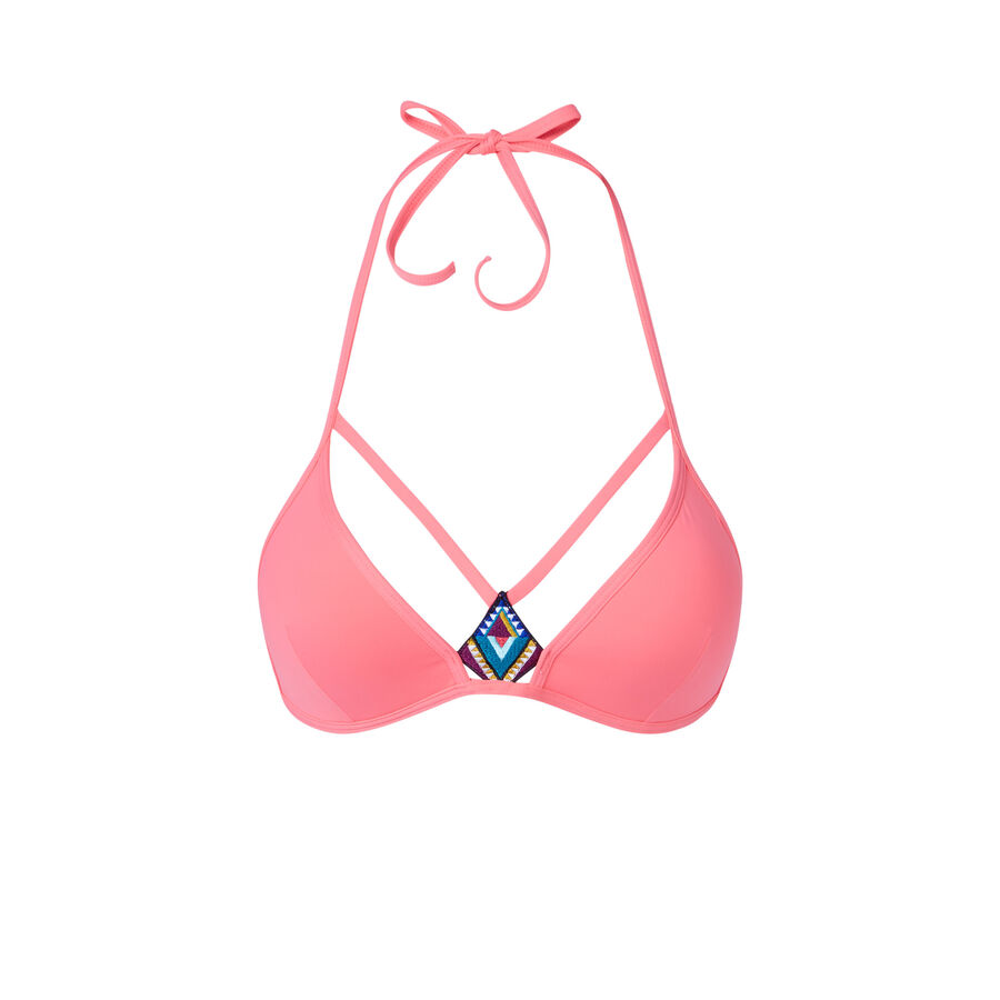 Daiquiriz pink bikini top;${refinementColor}