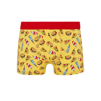 Boxer jaune junkfoodiz yellow.