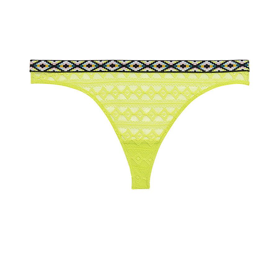 Jacquardiz yellow thong;${refinementColor}