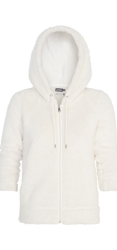 Polairiz off-white plush jacket;${refinementColor}