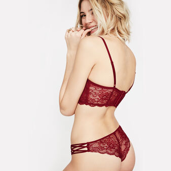 Tanga rouge flirtiz red.