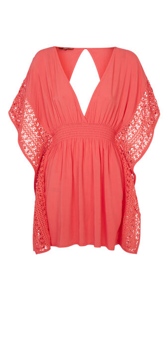 Tunique de plage corail incorpiz pink.