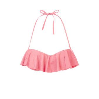Haut de maillot de bain rose pâle citroniz pink.
