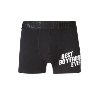 Boxer noir boyfriz black.