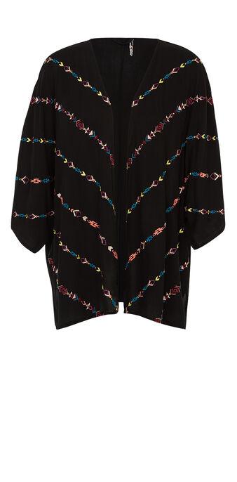 Wofreepiz black kimono black.
