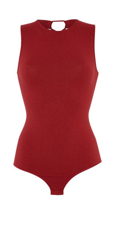 Noentrecriz burgundy bodysuit;${refinementColor}