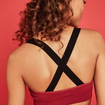Soutien gorge triangle bordeaux girlpowiz red.