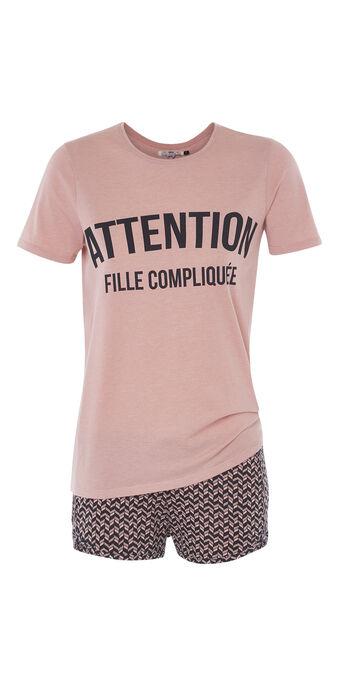 Ensemble de pyjama rose clair ateniz  pink.