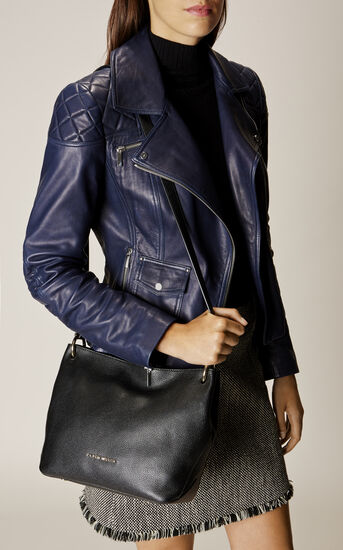 Karen Millen, SOFT SLOUCH BAG Black 1