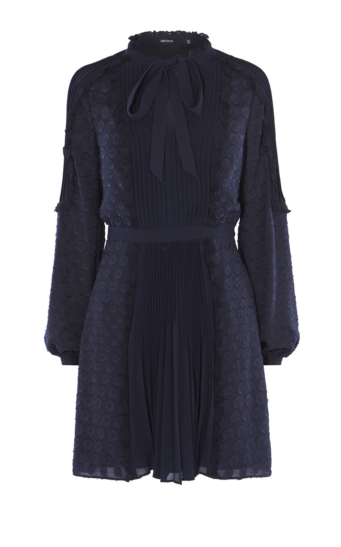 Karen Millen, DEVORÉ DRESS Navy 0