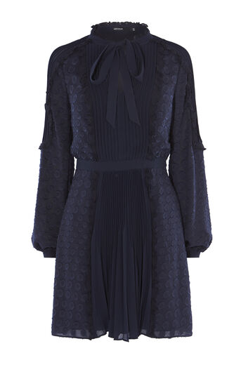 Karen Millen, DEVORÉ DRESS Navy 0