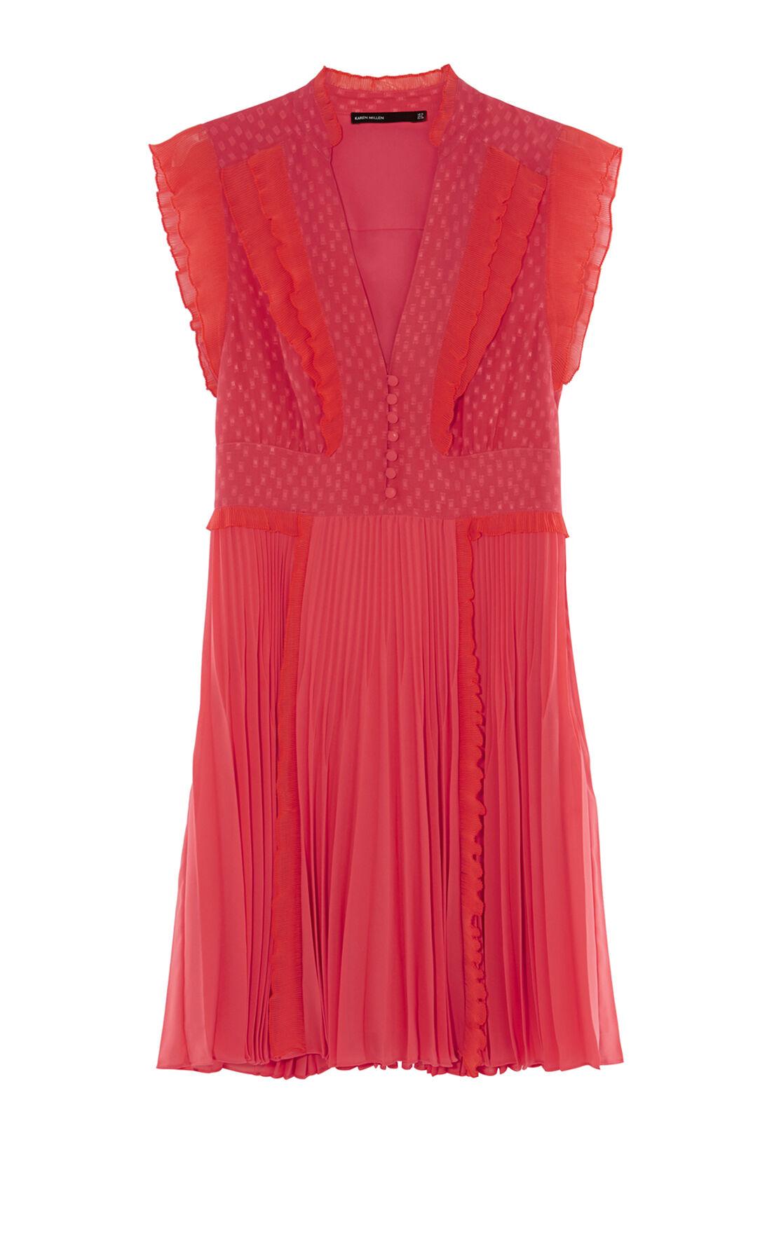 Karen Millen, PLEATED DRESS Coral 0