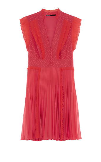 Karen Millen, PLEATED DRESS Coral 0