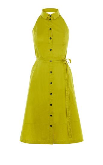 Karen Millen, HALTERNECK DRESS Lime 0