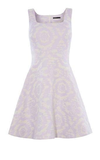 Karen Millen, FLORAL-JACQUARD DRESS Lilac 0