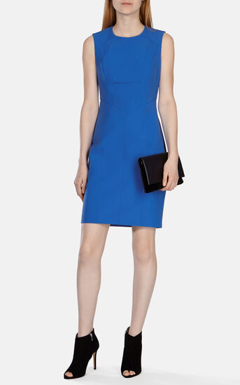 Karen Millen, TAILORED SHIFT DRESS Blue 1