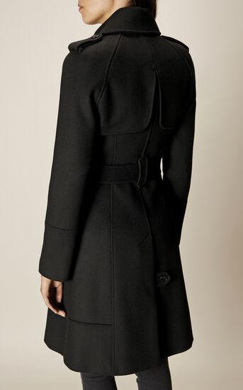Karen Millen, BELTED COAT Black 3