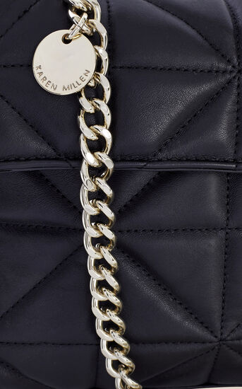 Karen Millen, QUILTED BAG Black 4