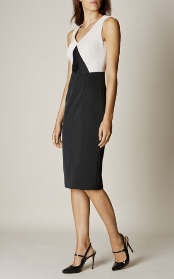 Karen Millen, COLOURBLOCK PENCIL DRESS Black & Ivory 1