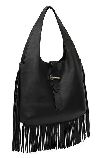 Karen Millen, FRINGE SLING BAG Black 3