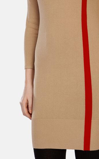 Karen Millen, STRIPED KNIT DRESS Camel 4